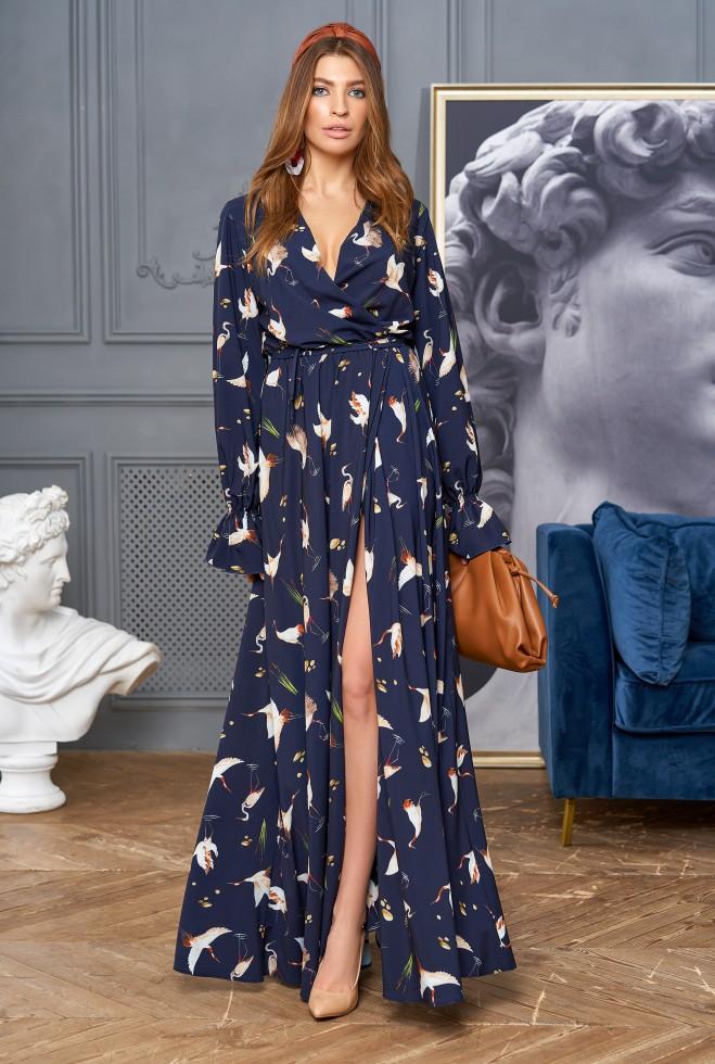 Платье Оливия тёмно-синий