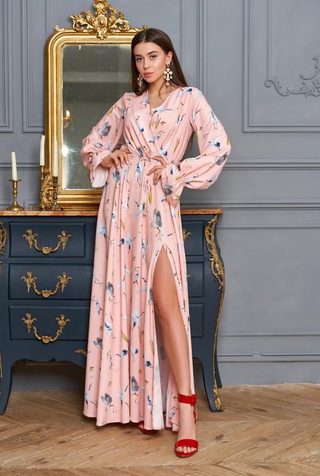 Платье Оливия персиковый