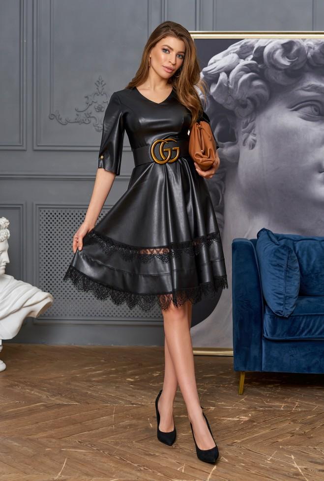 Платье Ассоль без пояса черный
