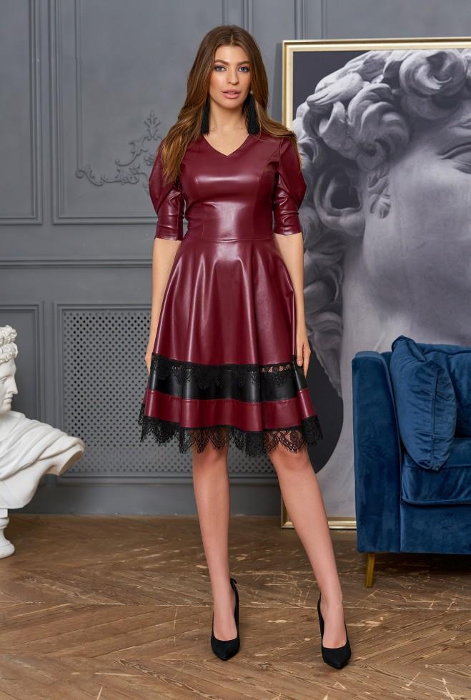 Платье Ассоль без пояса вишня Жадон