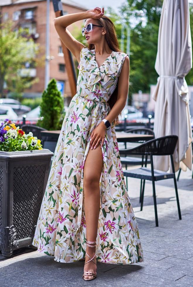 Платье Флори бежевый