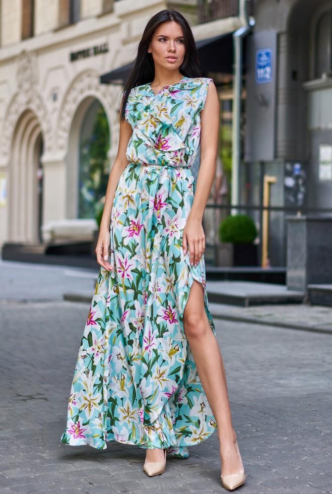 Платье Флори бирюзовый