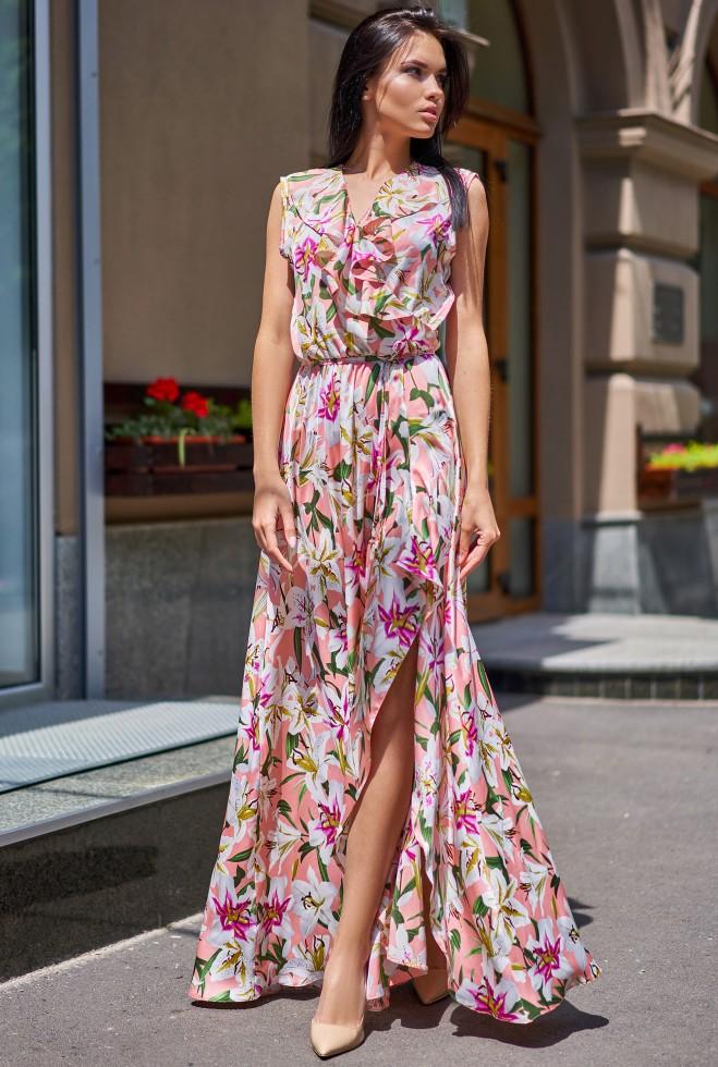Платье Флори пудра