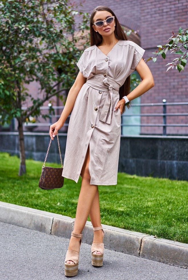 Платье Вайли бежевый