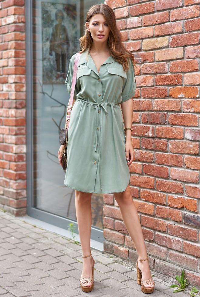 Платье Дарина хаки