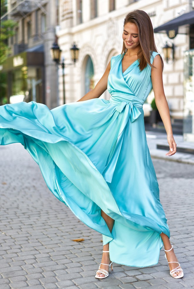 Платье Фурор бирюзовый Жадон