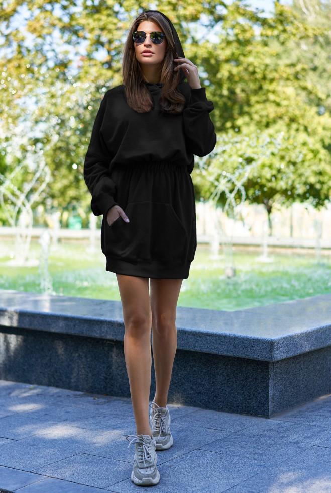 Платье-худи Виола черный
