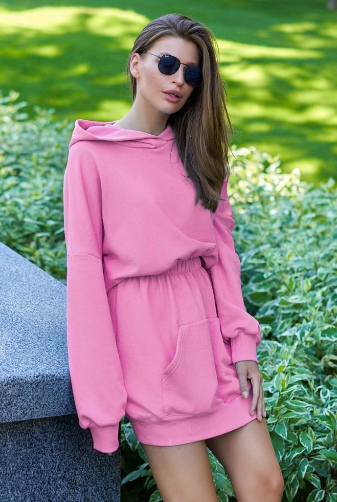 Платье-худи Виола пудра