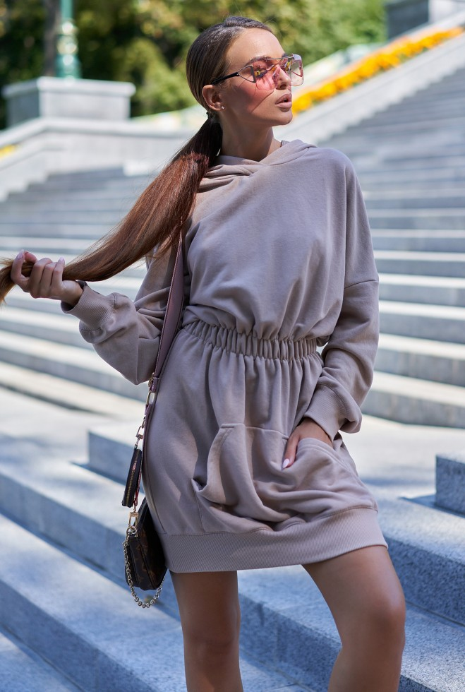 Платье-худи Виола бежевый
