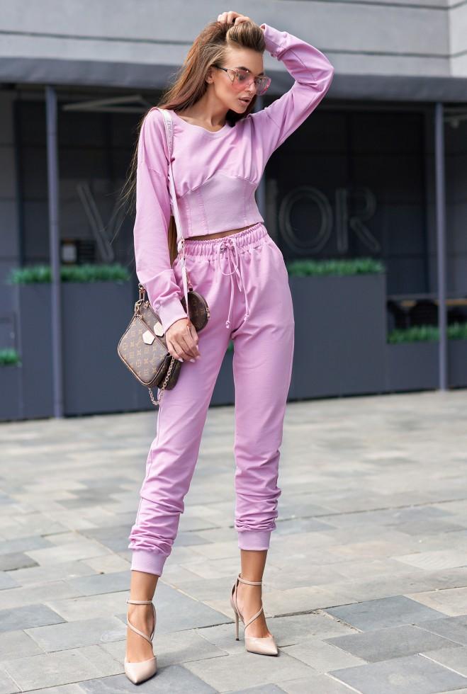Прогулочный костюм Тео розовый