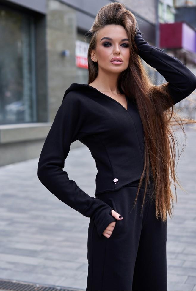 Прогулочный костюм с кюлотами Борнео черный
