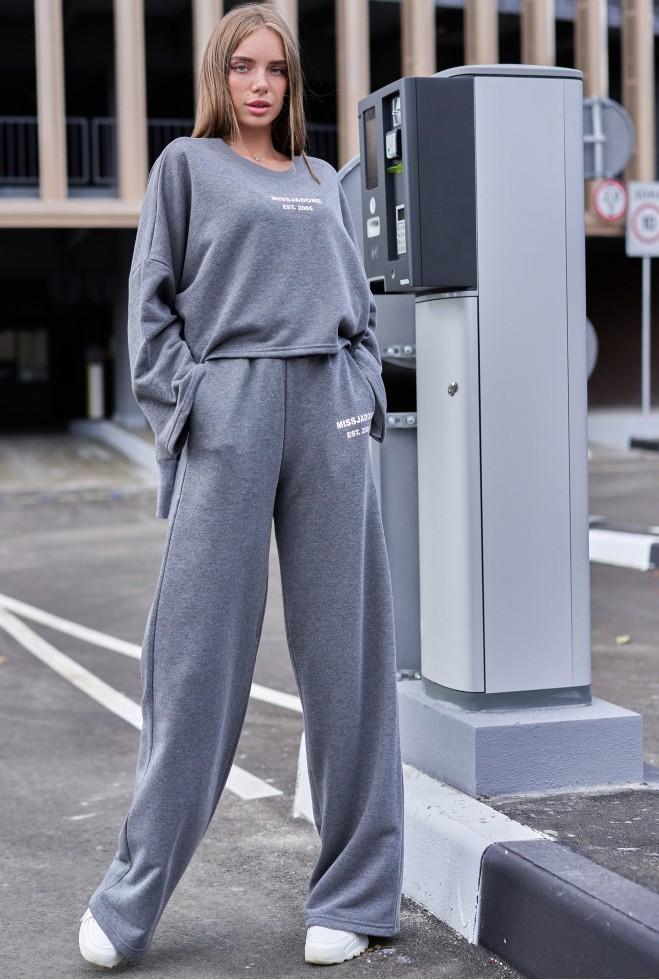 Прогулочный костюм с кюлотами Лесси Графит