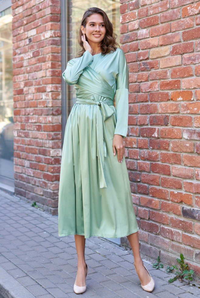 Платье Мадейра оливка