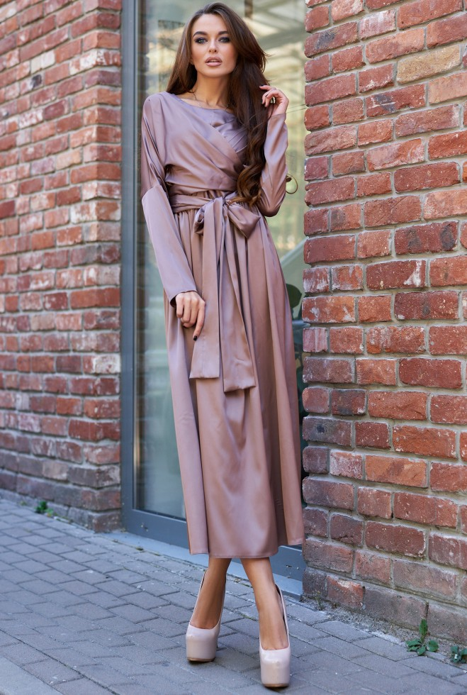 Платье Мадейра кофейный