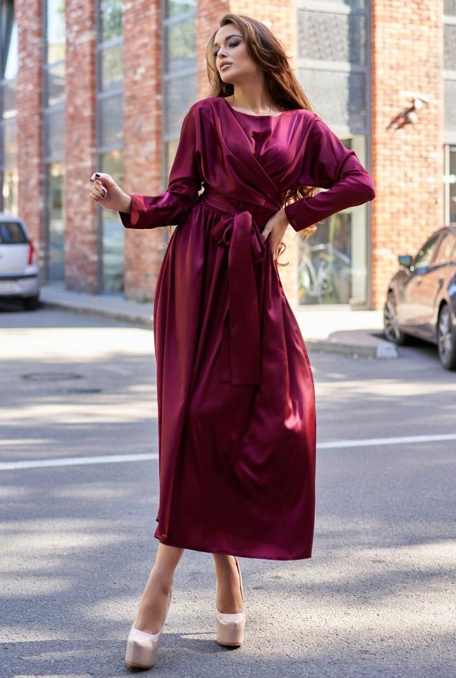 Платье Мадейра винный