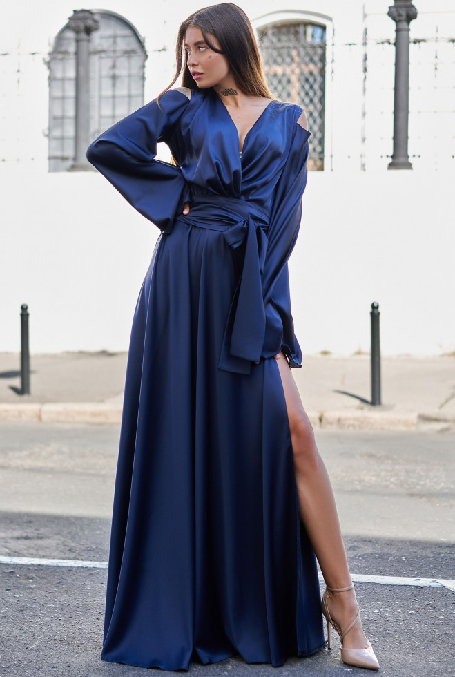 Платье Виктория тёмно-синий Жадон