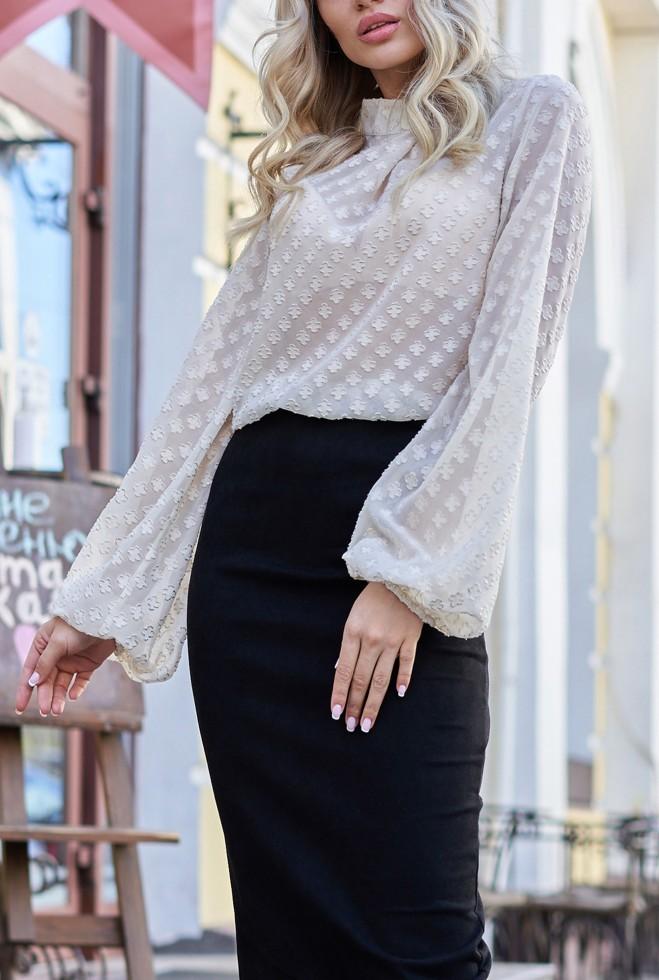 Блуза Неада бежевый