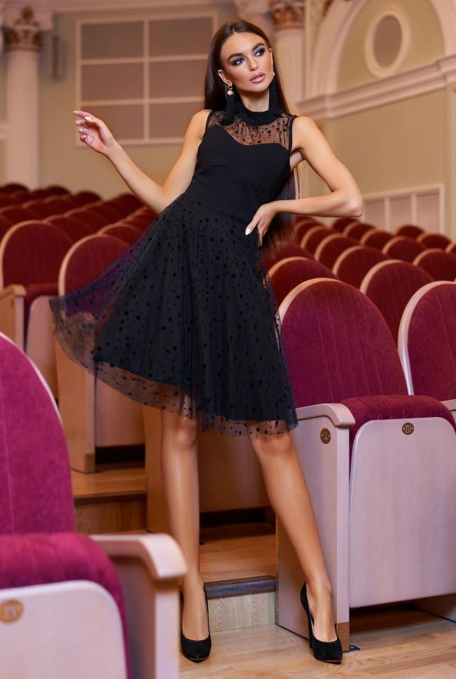 Платье Фея черный Жадон