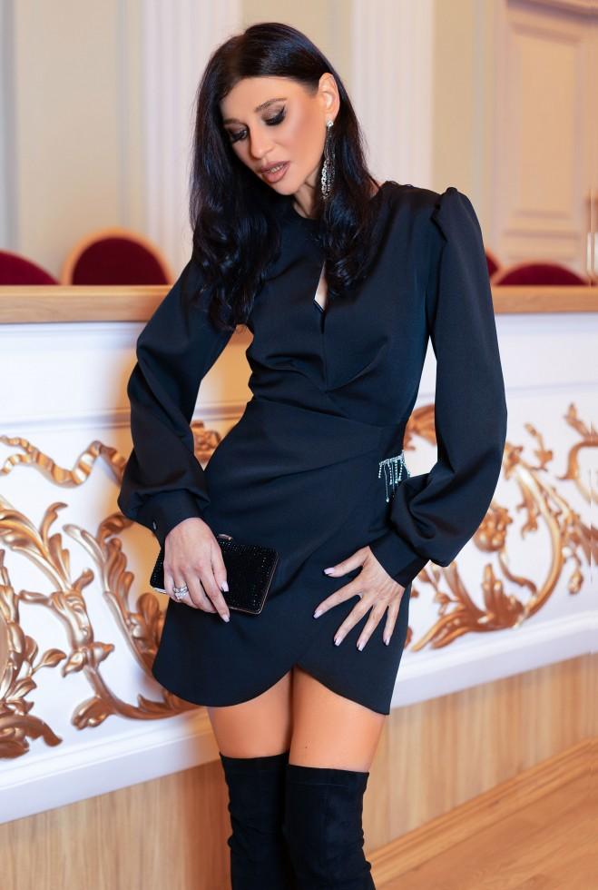 Платье Анна черный Жадон