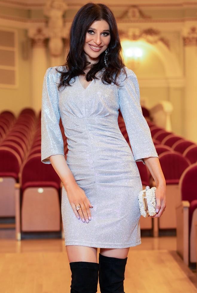 Платье Вивьен серебро Жадон