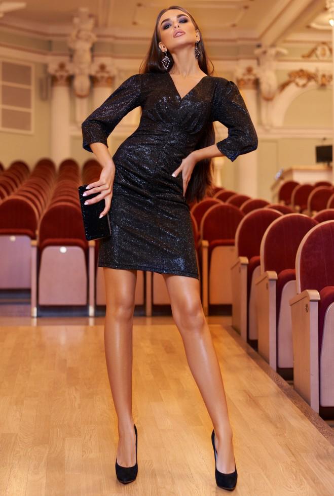 Платье Вивьен черный Жадон