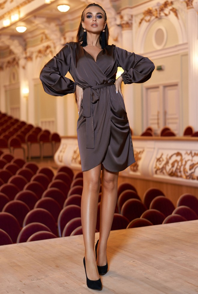 Платье Квинта Шоколад Жадон