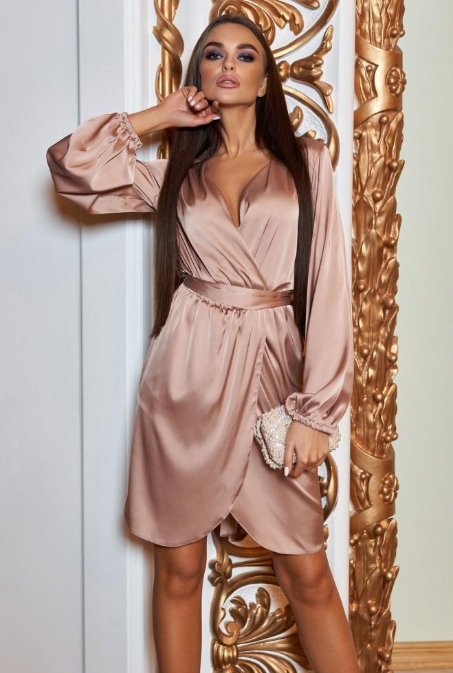 Платье Квинта темно-бежевый