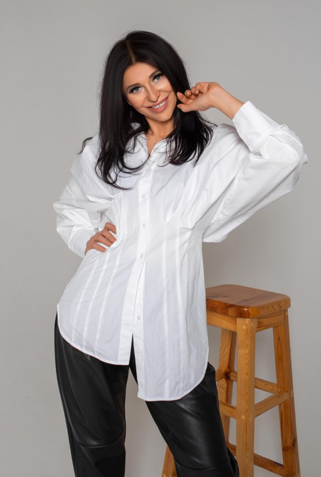 Рубашка Бернарда белый Жадон