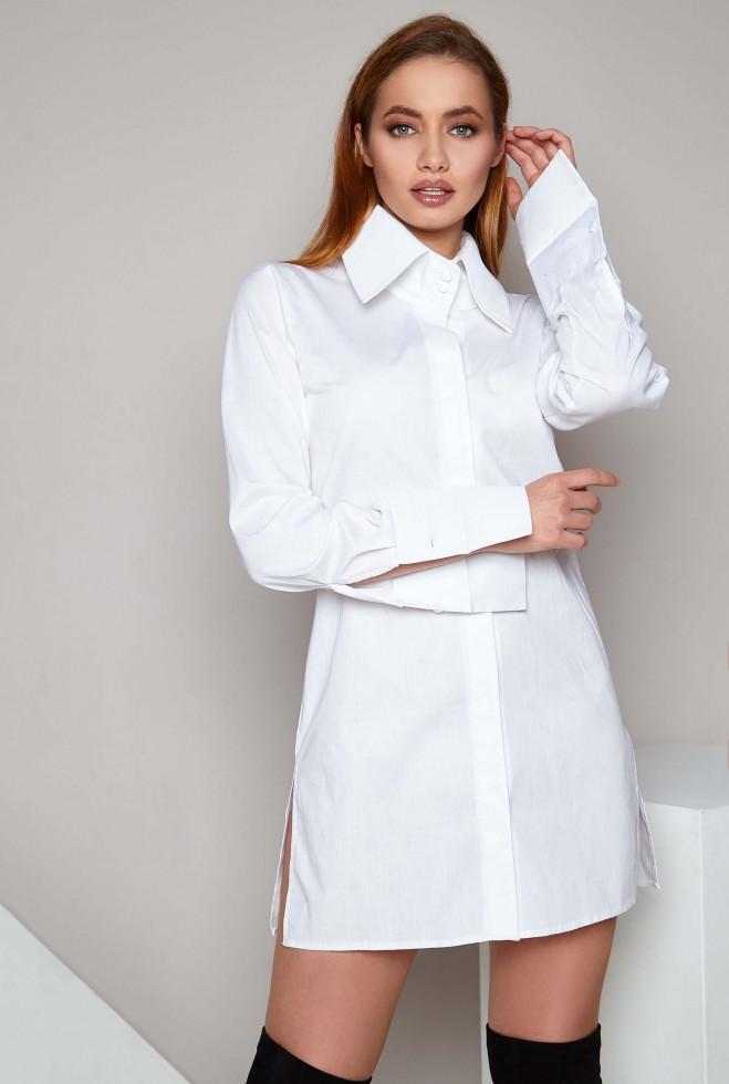 Рубашка Нида белый Жадон