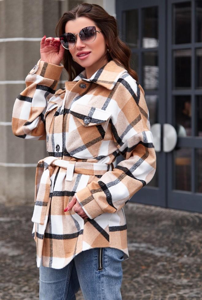 Пальто-рубашка Нетти бежевый Жадон