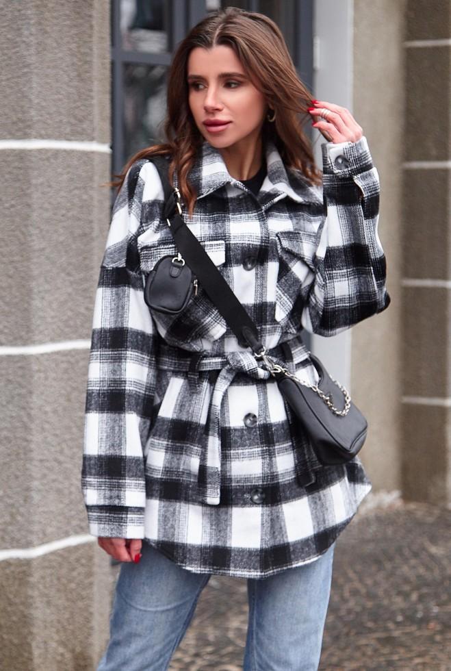 Пальто-рубашка Нетти черный Жадон