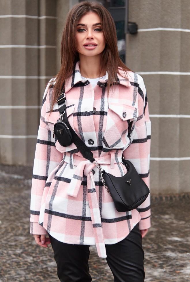 Пальто-рубашка Нетти розовый Жадон