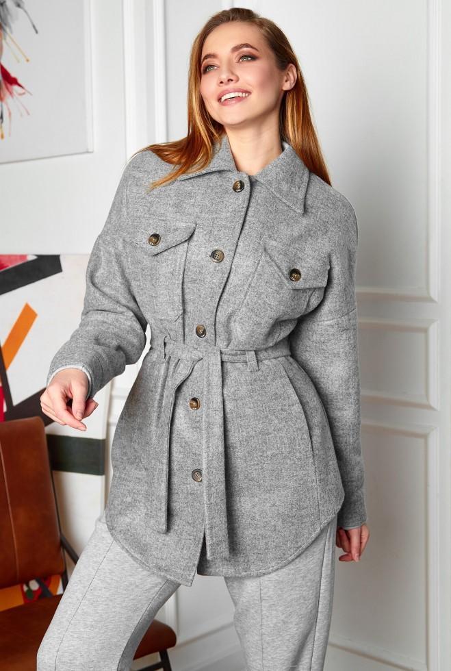 Облегченное пальто Мираж серый Жадон