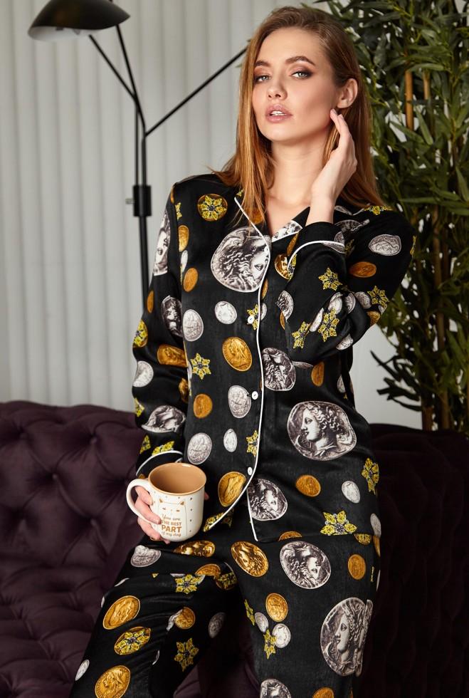 Пижама Моне черный Жадон