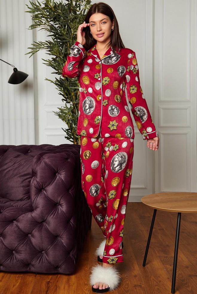 Пижама Моне красный Жадон