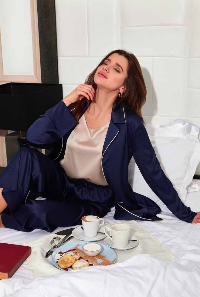 Пижама Бонна тёмно-синий Жадон