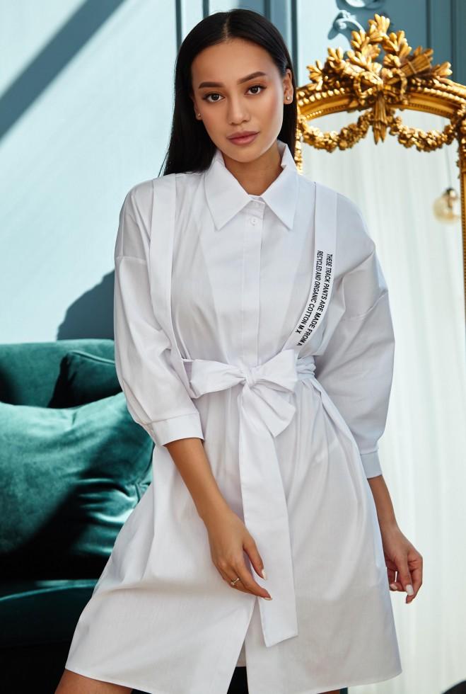 Платье с портупеей Адина белый Жадон