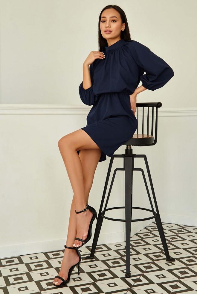 Платье Сим тёмно-синий Жадон