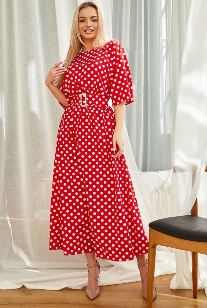 Платье Ролана красный Жадон