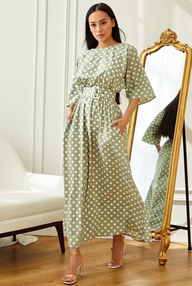 Платье Ролана оливка Жадон
