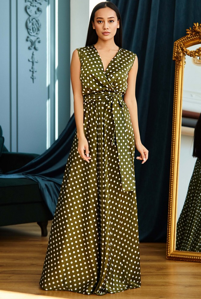 Платье Таис хаки Жадон