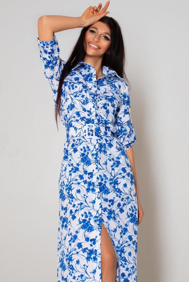 Платье Сафари голубой Жадон