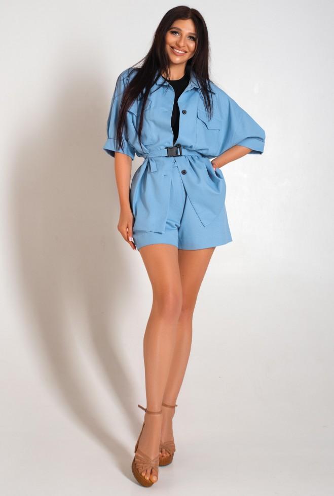 Костюм  с шортами Майами голубой Жадон