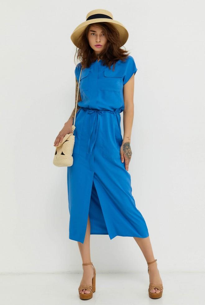 Платье Малика голубой Жадон