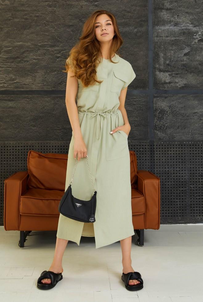Платье Малика оливка Жадон