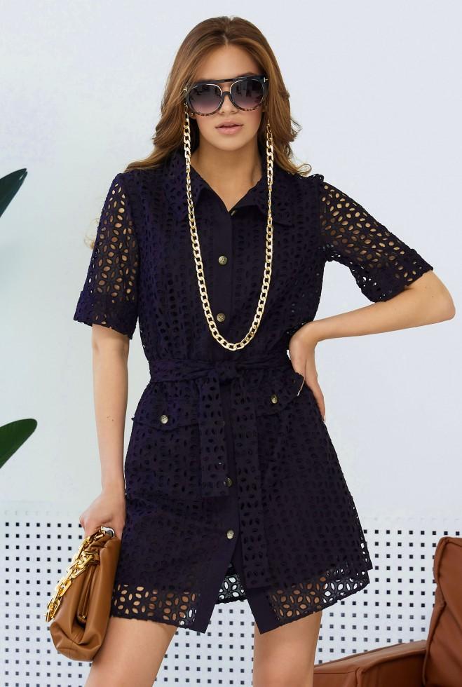 Платье Рисса тёмно-синий Жадон