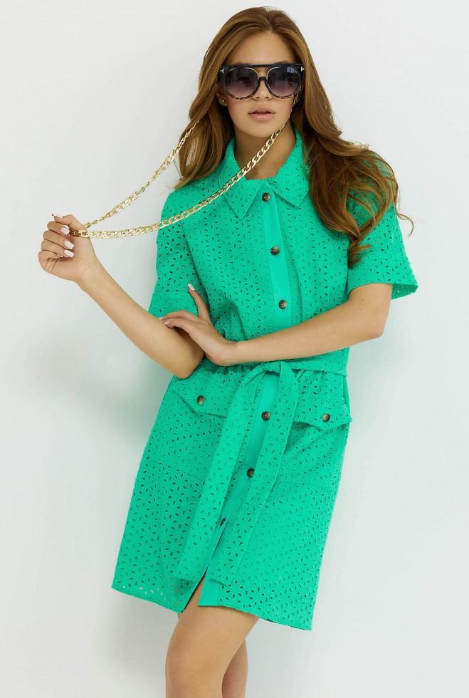 Платье Рисса бирюзовый Жадон