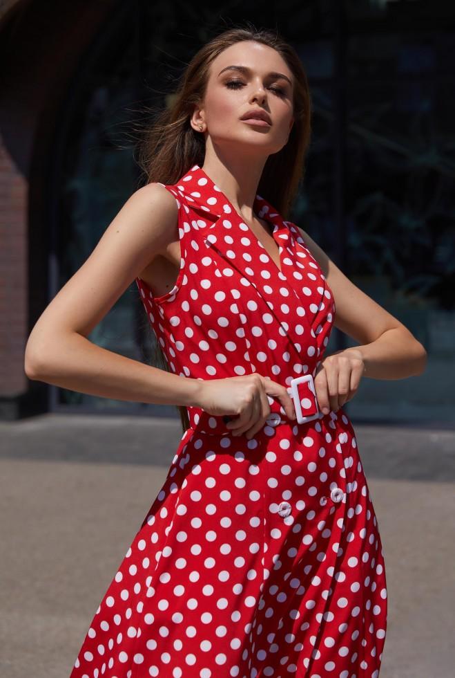 Платье Влада красный Жадон