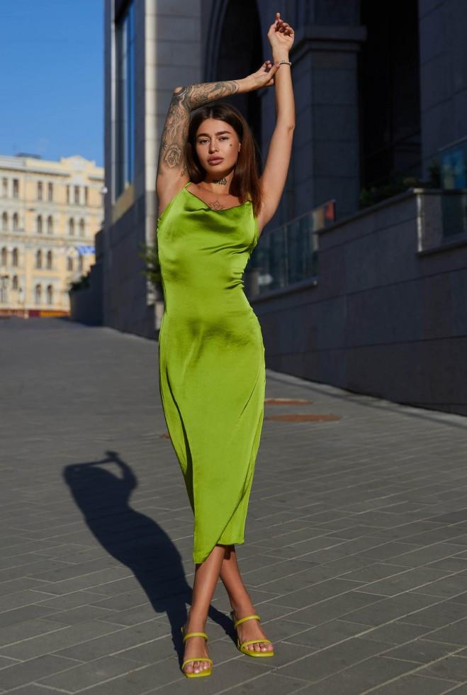Платье Калипсо фисташка Жадон