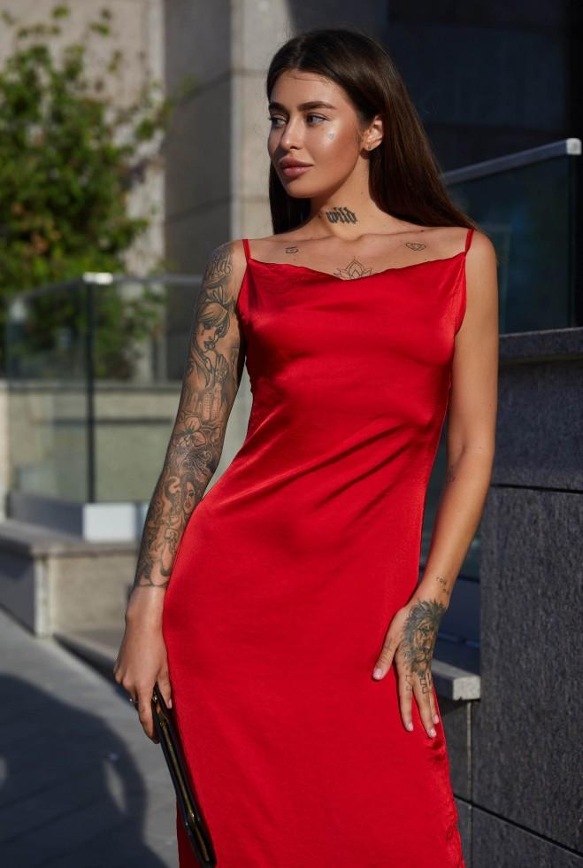 Платье Калипсо красный Жадон